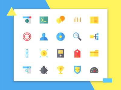 Seo Icons (Flat) app button iconset user interface ux ui flat iconography icon