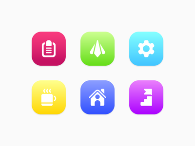 Colorful Startup Icons