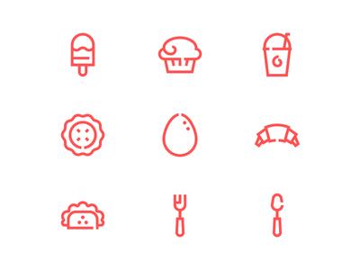 Take Away Food Icons