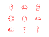 Take Away Food Icons