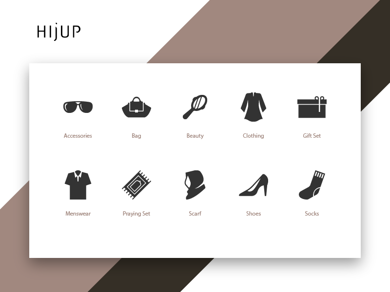Hijup Category Icons By Rizki Kurniawan Darsono Dribbble Dribbble