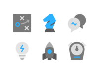 Strategy And Management Icons