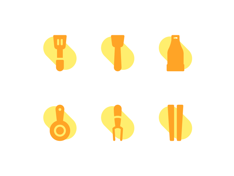 More About Kitchen Icons emergency app button iconset user interface ux ui line iconography icon