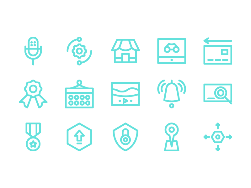 Digital Marketing Icons app button iconset user interface ux ui line iconography icon