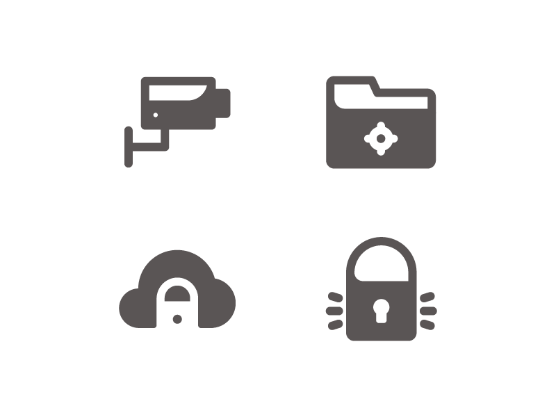 Safety System Icons sea food app button iconset user interface ux ui line iconography icon glyph