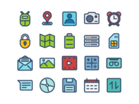 Android Icons (Filled Line)