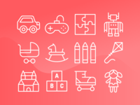 Toys Icons (Line)