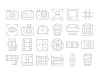 Thin Line Camera Icons