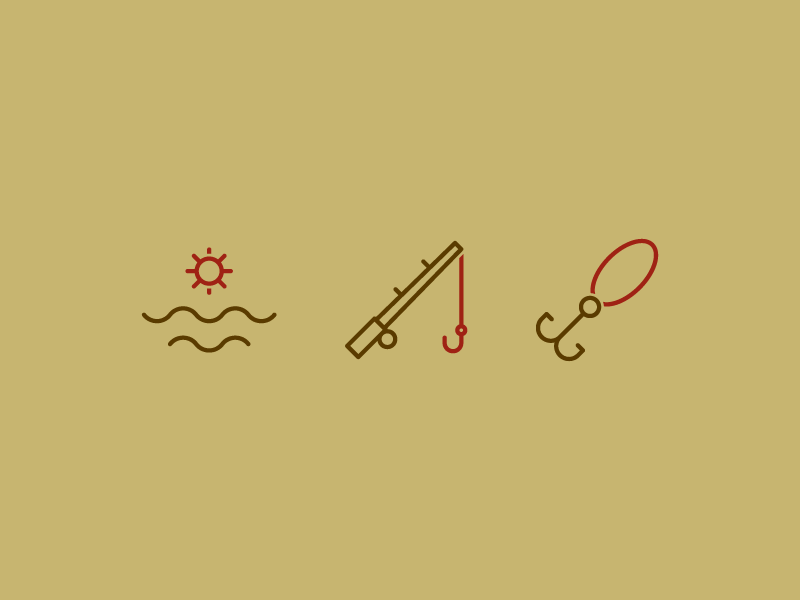 Fishing Icons system app button iconset user interface ux ui line iconography icon