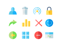 Interface Icons On Flat Style