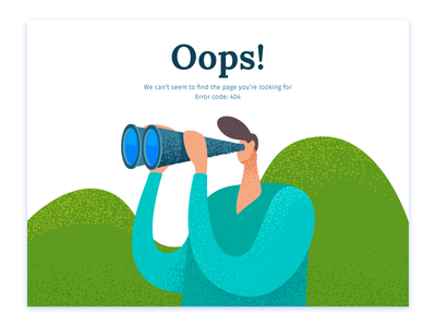 Oops 404 error page 404 illustration ui ux landing page web website homepage