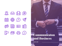 Communication And Business Icon Set