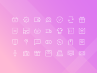 E-Commerce Icons With Thin Line