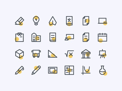 Back To School Icons user interface ux ui system icon icon set iconography icon