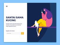 Santai Sama Kucing Landing Page