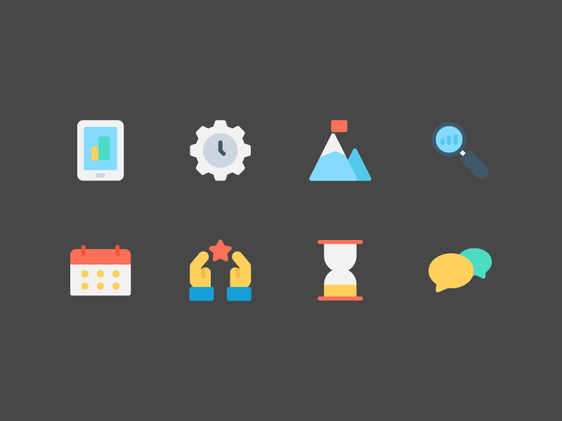 Productivity Icons ux ui illustration button iconography icon pack icon set icons icon