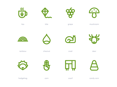 Autumn Icons symbol sign button iconography system icon icon pack icon set icons icon ux ui