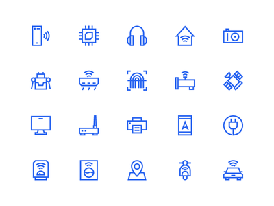 Internet Of Things Icons In Line Style symbol sign button iconography system icon icon pack icon set icons icon ux ui