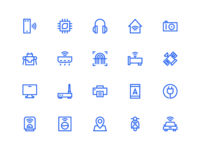 Internet Of Things Icons In Line Style