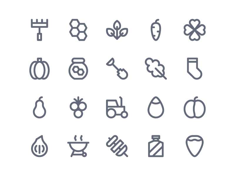 Fun Outdoor Icons symbol sign button iconography system icon icon pack icon set icons icon ux ui