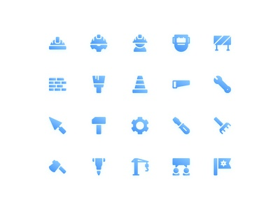 Labor Day Icons (Gradient) symbol sign action system ux ui button iconography icon set icons icon