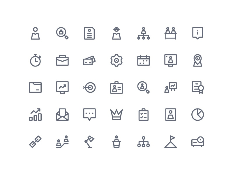 Human Resources Icons symbol sign action system ux ui button iconography icon set icons icon