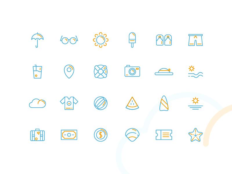 Picnic Icons web app symbol iconography ux ui button icon pack icon set icons icon