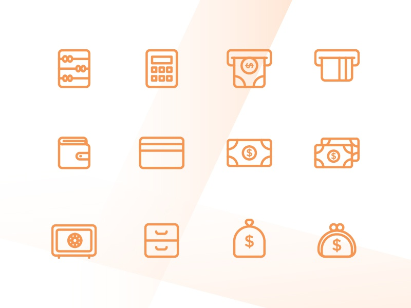 Finance Icons web app symbol iconography ux ui button icon pack icon set icons icon