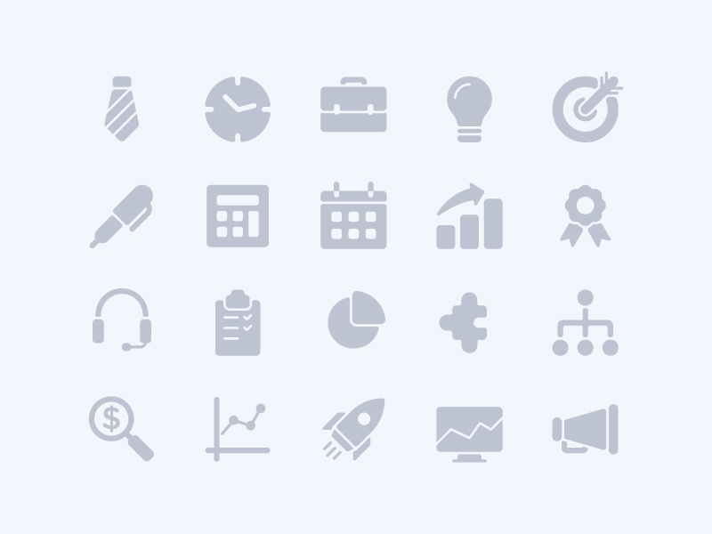 Business Solid Icons web app symbol iconography ux ui button icon pack icon set icons icon