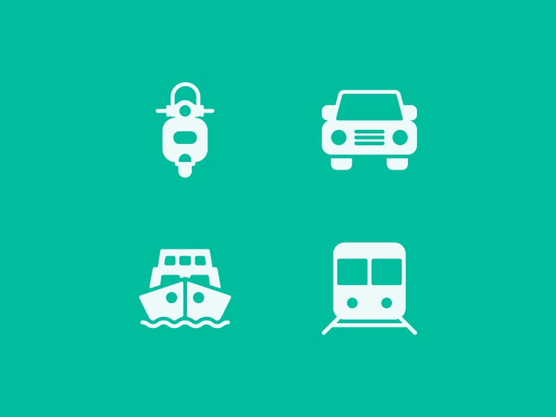 Transportation Icons  Solid web app symbol iconography ux ui button icon pack icon set icons icon