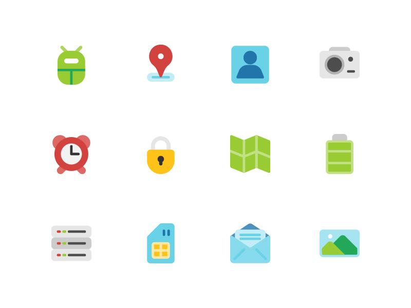 Android Icon Set web app symbol iconography ux ui button icon pack icon set icons icon