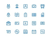 Android Icon Set In Line