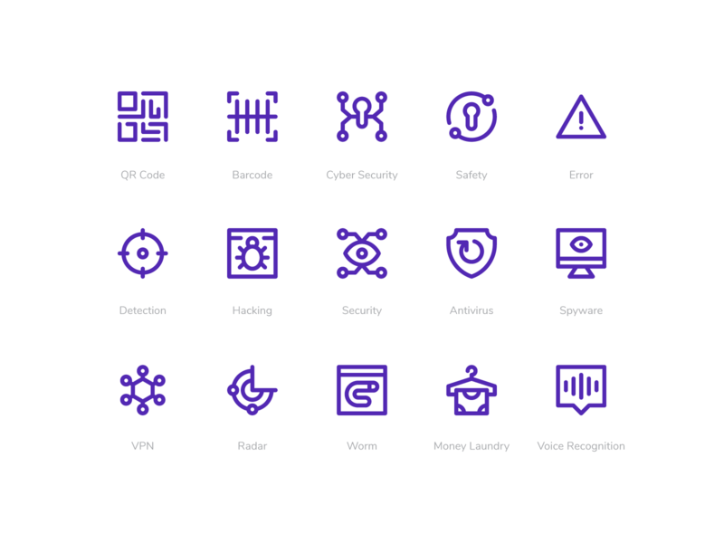 Hacker Icons security line icons system icons icon pack icon set icon hacker