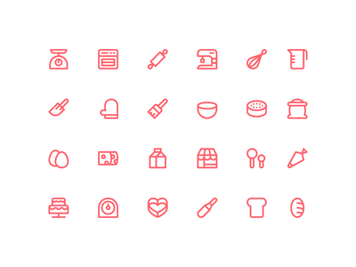 Bakery Icon Set linear line system icon icon pack icons icon set icon bakery