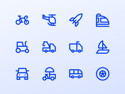 Vehicle Icons system icon ui ux button iconography icon set iconset vehicle icons icon