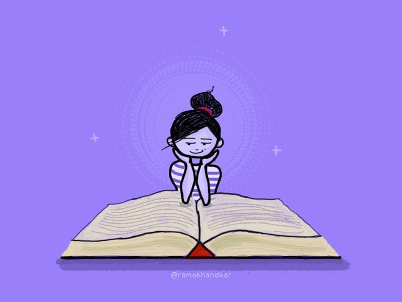 Download Book Lover by Rama Khandkar on Dribbble