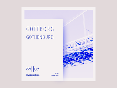 Day 24 - Minimal layout minimal gothenburg sweden bridge cards icons illustration typography
