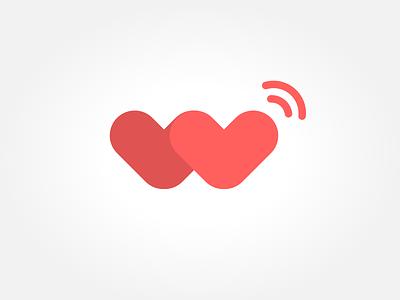 Day 27 - Logo W hearts connectivity logo illustration w