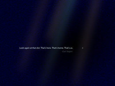 Day 29 - The pale blue dot illustration earth poster minimal quotes carl sagan
