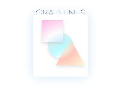 Soft gradients shapes colour geometry pastels gradients