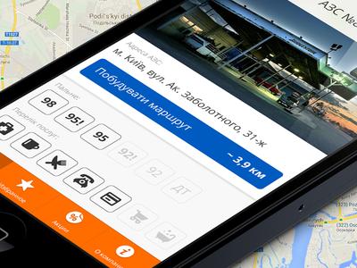 Filling Stations App Design