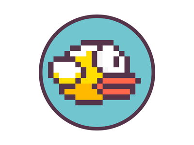Blue FlappyCoin Logo