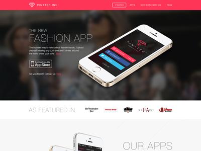 Pinxter Inc. website style fashion app design site web pinxter