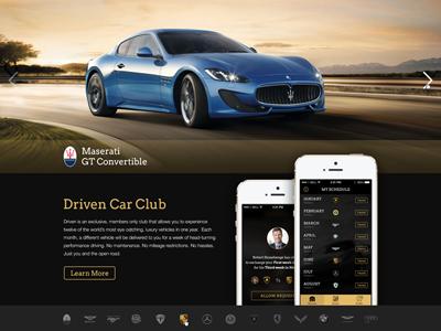 Driven Car Club driven car club web pinxter app