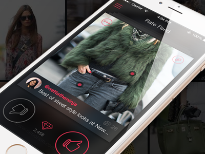 Redesign of Pinxter Fashion App design fashion pinxter app ios redesign style iphone