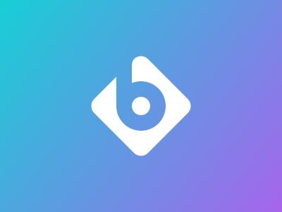 B design symbol mark logo rebound b