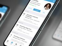 Clowder App Schedule Tab on the Profile screen