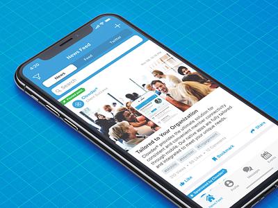 Updated Segmented Controls design ui iphone ios13 core bluepaper newsfeed news blue ios segmented control app clowder