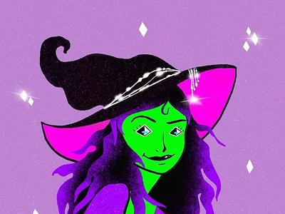 Green Witch graphic design logo app icon illustrator vector typography illustration design branding