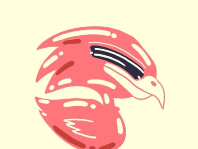 Headbanging bird birds logo birds illustrator vector typography illustration design branding